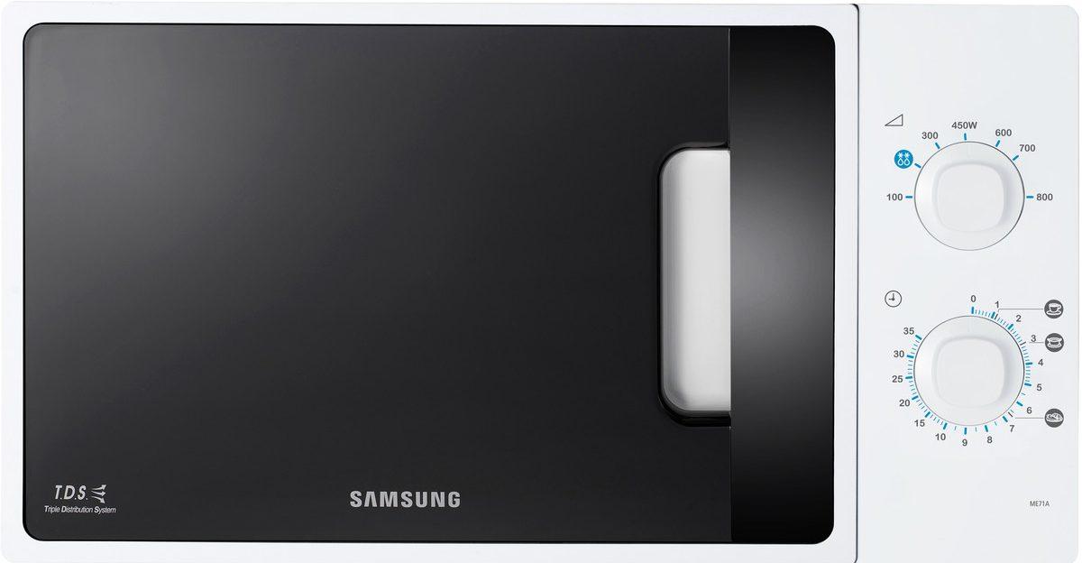 Cuptor cu microunde Samsung ME71A Mecanic, Alb, 20 l, 800 W