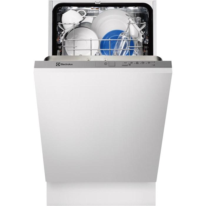 Masina de spalat vase incorporabila Electrolux ESL4200LO, 9 Seturi, 5 Programe, Clasa A, 45 cm, Inox