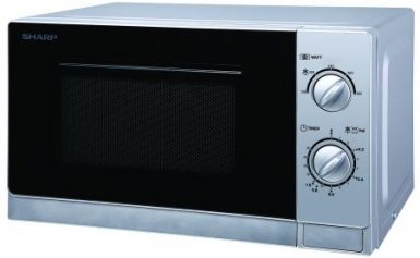 Cuptor cu microunde Sharp R20DS, 20 l, 800 W, Mecanic, Silver