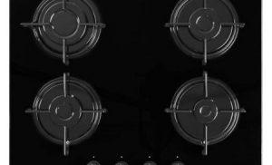 Plita incorporabila Beko HISG64220S, Gaz, 4 arzatoare, Aprindere electrica, Sticla Neagra