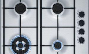 Plita incorporabila Bosch PBH6B5B60, Gaz, 4 Arzatoare, 60 cm, Inox
