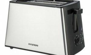 Prajitor de paine Hyundai, HY TA 011, 850 W, 2 felii, Grad de rumenire ajustabil, Negru/Inox