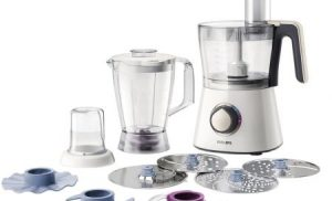 Robot de bucatarie PHILIPS Viva Collection HR7762/00, 750 W, bol 1.5 l, blender 1 l, 2 viteze + Pulse, Alb/Crem