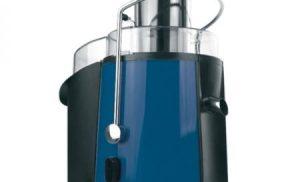 Storcator de fructe Heinner XF-1000BL, 1000 W, Recipient pulpa si suc, Periuta de curatare, Baza inox, Albastru
