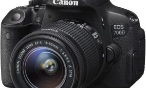 Aparat foto DSLR Canon EOS 700D, 18MP, Black + Obiectiv EF-S 18-55mm IS STM