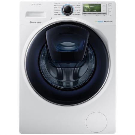 Masina de spalat rufe Samsung Eco Bubble AddWash WW12K8412OW/LE, 1400 RPM, 12 kg, Inverter, Clasa A+++, Alb