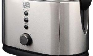 Prajitor de paine Star-Light TS-800W, 800 W, 2 felii, Grad de rumenire ajustabil, Functie dezghetare, Inox
