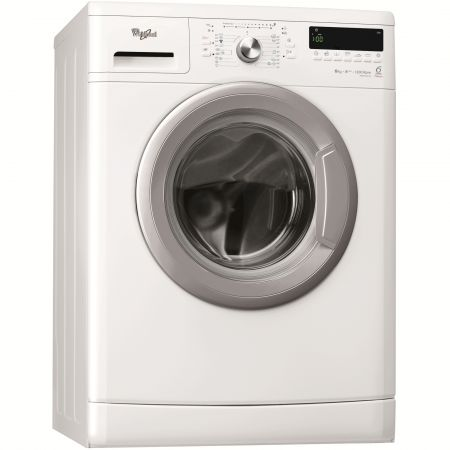 Masina de spalat rufe Slim 6th Sense Colours Whirlpool AWSX63213, 1200 RPM, 6 kg, Clasa A+++, Display LCD, Alb