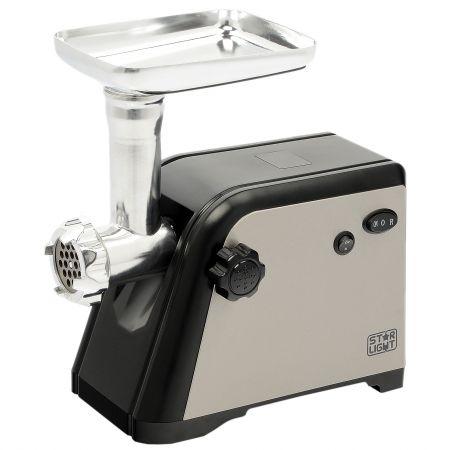 Masina de tocat Star-Light MG-160BV, 1600W, 1.6kg/min., Accesoriu de rosii/carnati, Maruntire legume/fructe, Cutit inox, Negru/Argintiu
