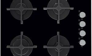 Plita incorporabila Electrolux EGT6142NOK, Gaz, 4 Arzatoare, Aprindere electrica, gratare fonta, Sticla Neagra