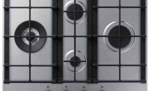 Plita incorporabila Samsung NA64H3040BS/OL, 4 arzatoare, Gaz, Inox