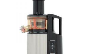 Storcator de fructe si legume cu melc Star-Light SJB-150W, 150 W, 55 RPM, Recipient suc 1.0 l, Recipient pulpa 0.8 l, Functie Reverse, Inox/Negru