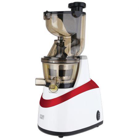 Storcator de fructe si legume cu melc Star-Light SJB-240W, 240 W, 80 RPM, Recipient suc 1.0 l, Recipient pulpa 0.8 l, Functie Reverse, Tub alimentare 80 mm, Alb/Rosu