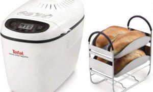 Masina de paine Tefal Home Bread Baguette PF610138, 1500 g, 16 programe, Alb