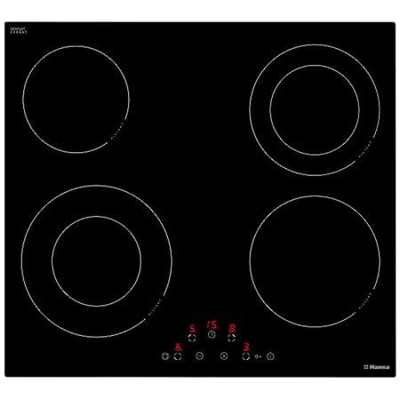 Plita incorporabila Hansa BHC63506, Vitroceramica, 4 Zone, Touch control, Sticla Neagra