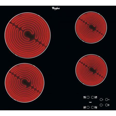 Plita incorporabila Whirlpool AKT 8090/NE, Electrica, Vitroceramica, 4 Zone de gatit, Panou digital, Timer, 58 cm