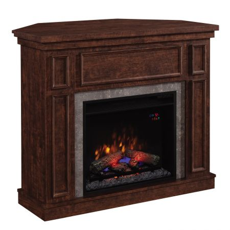 Semineu electric ClassicFlame Newcastle de colt/perete, cu focar 23″, Brown cu sunet