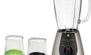 Blender Tefal BlendForce Glass Tripl'Ax BL313A38, 500 W, 1.25 l, 2 viteze, Negru/Inox