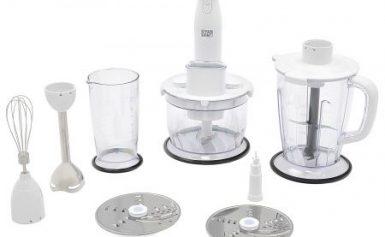 Mixer vertical Star-Light SMART-W700W, 700 W, Tocator,Bol 1,25 l, 2 Viteze + variator, Functie de robot de bucatarie, Blender 1.5 l, Tel, Alb
