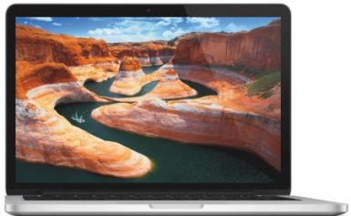 Laptop Apple MacBook Pro 13 cu procesor Intel® Dual Core™ i5 2.70GHz, Broadwell™, 13.3″, Ecran Retina, 8GB, 128GB SSD, Intel® Iris™ Graphics 6100, OS X Yosemite, INT KB