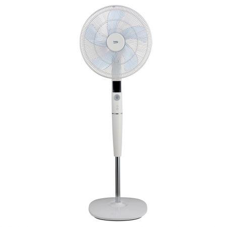 Ventilator cu picior Beko EFS8000W,35W, 40 cm, display LED, telecomanda, 26 viteze, Alb
