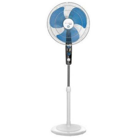 Ventilator cu picior Rowenta Ultimate Protect VU4210, Antitantari, 40 cm, 3 trepte, Alb/Gri