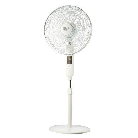 Ventilator cu picior Star-Light FTDB-60W, 60W, 40 cm diametru, Display LED, Telecomanda, Timer, Picior reglabil pe inaltime, Talpa rotunda, Alb