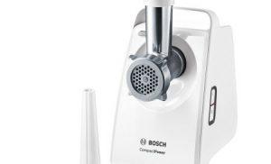 Masina de tocat Bosch MFW3520W, putere 1500w, capacitate tocare 1,8 kg/min, Alb