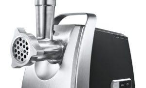 Masina de tocat Bosch MFW68660, 2200W, 4.3 kg/min, 3 site, storcator rosii, accesoriu Kebbe, palnie carnati, 4 discuri razuire/feliere, Negru/Argintiu
