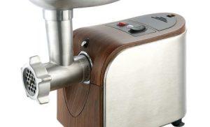 Masina de tocat Heinner MG16TA-WX, 1600W, accesoriu rosii, Wood/Inox