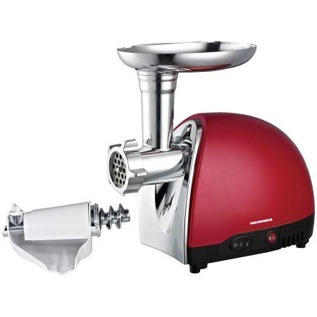Masina de tocat carne Heinner MG1200TA-Red, 1200W, 1.2 Kg/min, Rosu