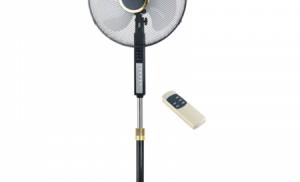 Ventilator cu picior Orion OFS-S160R, 45 W, 3 trepte de viteza, Functie oscilare, Timer, Telecomanda, Negru