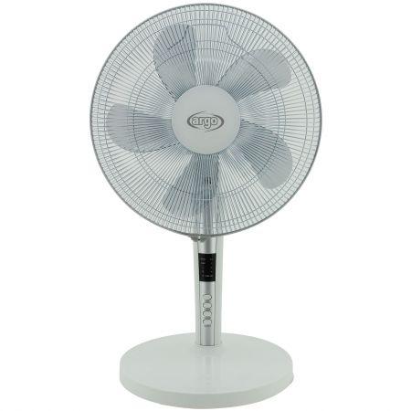 Ventilator de birou Argo Tablo, 60 W, 3 trepte de viteza, 3 moduri de operare, Timer, Telecomanda, Alb