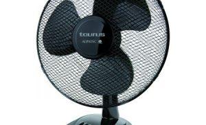 Ventilator de birou Taurus PONENT 16 Elegance. 41 W, diametrul 40 cm, 3 viteze, miscare oscilatorie.Debit de aer 44,7 m3/min. Negru