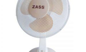 Ventilator de birou Zass ZTF 1201, 46W, 3 viteze, 30cm diametru, Alb