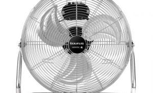Ventilator de podea Taurus SIROCCO 14. 60 W, 41 cm. Debit aer: 77,72 mc/min,3 viteze, palete metalice pentru ventilatie puternica.Inox.