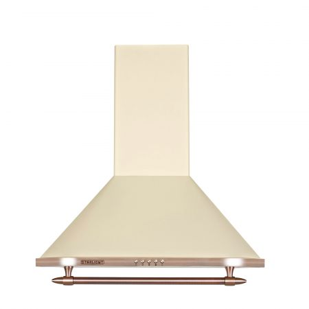 Hota incorporabila decorativa Star-Light HAD-100RETRO, Putere absortie 536.5 mc/h, 3 trepte de putere, 1 motor, 60cm, Crem