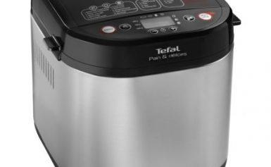 Masina de paine Tefal Pain & Délices PF240, 700 W, 1000 g, 20 programe, Negru/Argintiu