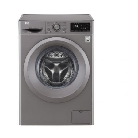 Masina de spalat rufe Slim LG F2J5WN7S, Direct Drive, 6.5 kg, 1200 RPM, Clasa A+++, 45 cm, Argintiu