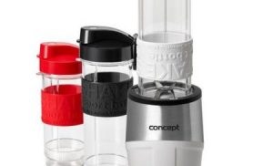 Mini Blender Concept SM-3380, 500 W, 23000 rpm, Smoothie, 2 recipiente 570 ml, 1 recipient 400 ml, Fara BPA, Alb