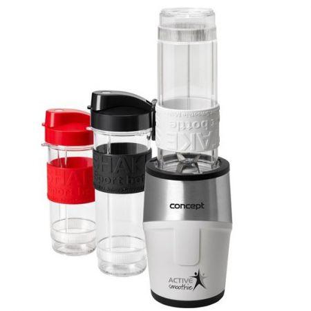 Mini Blender Concept SM-3380, 500 W, 23000 rpm, Smoothie, 2 recipiente 570 ml, 1 recipient 400 ml, Fara BPA, Alb