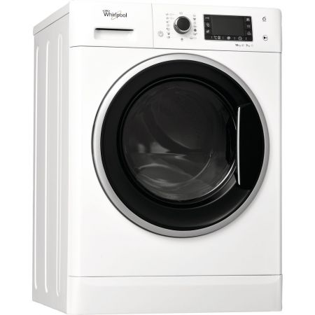 Masina de spalat rufe cu uscator Whirlpool WWDP 10716, 6th Sense, Motor Inverter, 1600 RPM, 10 kg spalare/7 kg uscare, Clasa A, 60 cm, Alb