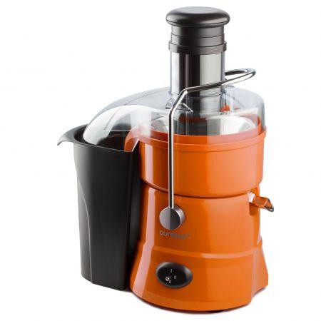 Storcator de fructe si legume Oursson JM3308/OR-800 W, 2 trepte de putere, recipient pulpa 2 litri, filtru fin din otel inoxidabil, tub de alimentare mare cu diametru de 75 mm, portocaliu