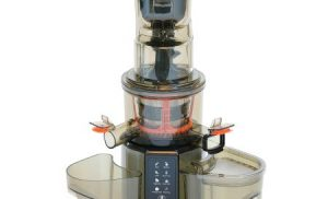 Storcator de fructe si legume cu melc Star-Light SJB-200SS, 200 W, 55 RPM, Control digital, 8 functii presetate, Recipient suc 1.0 l, Recipient pulpa 0.8 l, Functie Reverse, Tub alimentare 80 mm, Inox/Negru