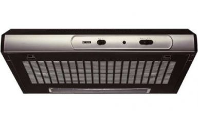 Hota traditionala Zanussi ZHT630X, Putere de absorbtie 190 mc/h, 1 motor, 60 cm, Negru/Inox