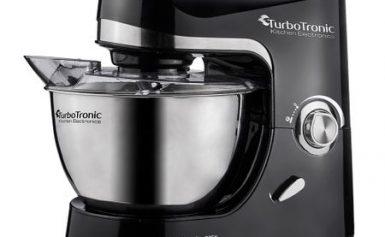 Robot bucatarie TurboTronic Professional Stand Mixer TT-002, 2000 wati, bol inox 5 litri,negru