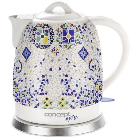 Fierbator Concept Ceramica ,1350W, 1.5 l, Ceramic, Mozaic