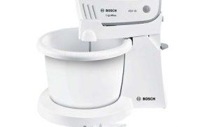 Mixer cu bol Bosch MFQ36460, 450 W, 5 Viteze + Turbo, Alb