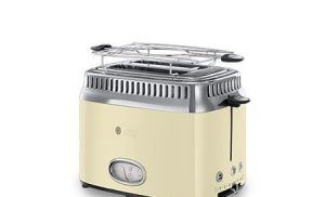 Review Russell Hobbs Retro Vintage Cream 21682-56 – prajitor de paine cu gratar pentru chifle