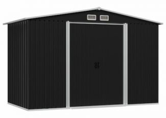 Magazie de depozitare gradina, vidaXL, Otel, 257 x 205 x 178 cm, Antracit : Review si Recomandari